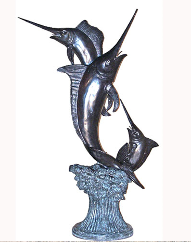 Bronze Three Sword Fish Fountain